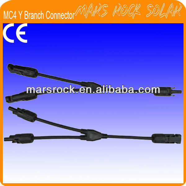 IP67 Waterproof MC4 Y Branch PV Solar Connector (male+female) with TUV Certification