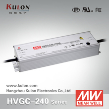 Meanwell HVGC 240w 2100ma 0-10v dimming constant current led driver
