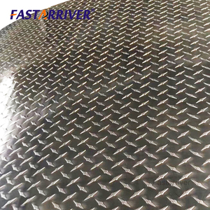 Thick 0.9mm-8.0mm 5 five bars stucco checkered plate 5005 5052 aluminum embossed sheet