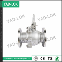 YAD-LOK Hand Lever & Gear Operated 10000PSI 2Pcs Flange Type Ball Valve Stainless