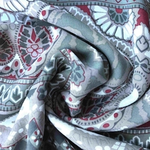 Paisley Design Placement Print 100% Rayon Challis Fabric Shrinkage Less Than 3%