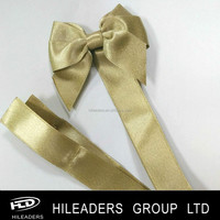 Gold Sparkle Ribbon Bow For Chocolate Packing