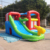 Commercial grade kids inflatable bouncy castle with water slide N spray gun from China factory for sale