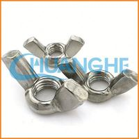 china supplier long shank eye bolt with wing nut