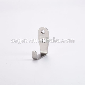 stainless steel toilet partition robe hook