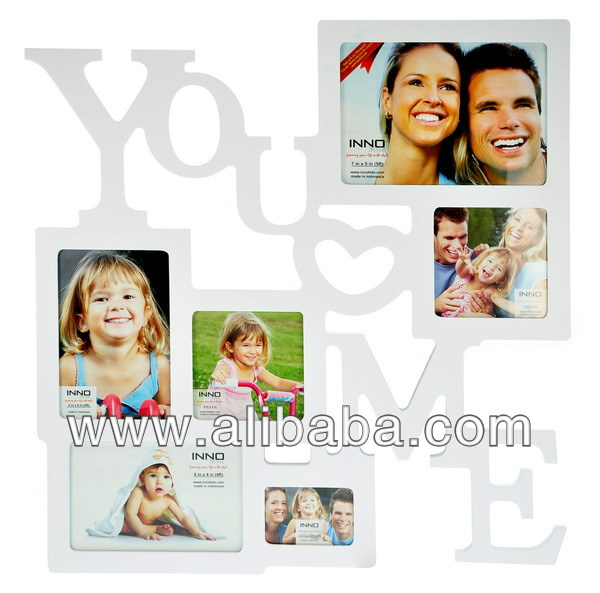 Photo Frame Inspiration, You Love Me, White w/ 3.25x2.25, (2)4x4, 4x6, 6x4, 7x5 op. Photo Frame