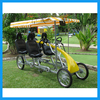 Summer Holiday Family Cycling Pedal 4 Person Surrey Bike with Kids Seat
