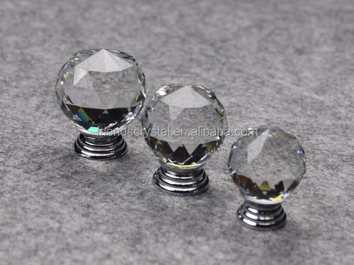 faceted ball Crystal handles and knobs for furniture