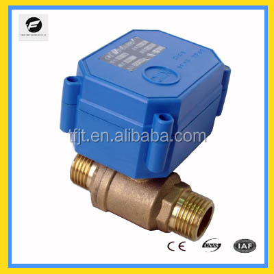 2 way electric solar water heaters control ball valve DC12V 24V 220V brass material