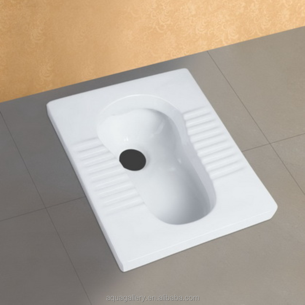 White Ceramic Squat Pan Toilet