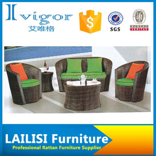 Hand knitting garden sofa plastic outdoor furniture