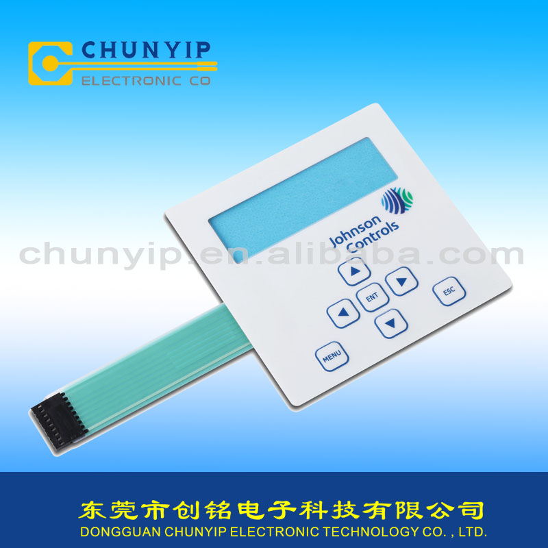 IP67 water-proof membrane switch with metal dome
