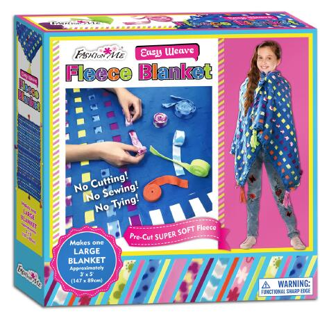 Creativity for Kids Deluxe Easy Weave Fleece Blanket Making Kit - Makes <strong>1</strong> No Sew Blanket