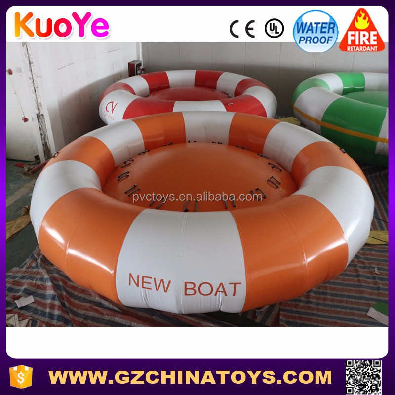 New design exciting inflatable disco boat water toy, commercial grade disco boat for sale
