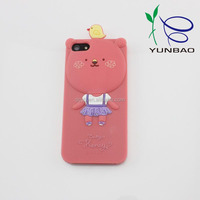 pink birdy bear silicone phone case covers imported from china wholesaler