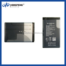 hot sale mobile phone battery replacement BL-4C for nokia 1202 1203 1265 1325 1506 1508 1661 1662
