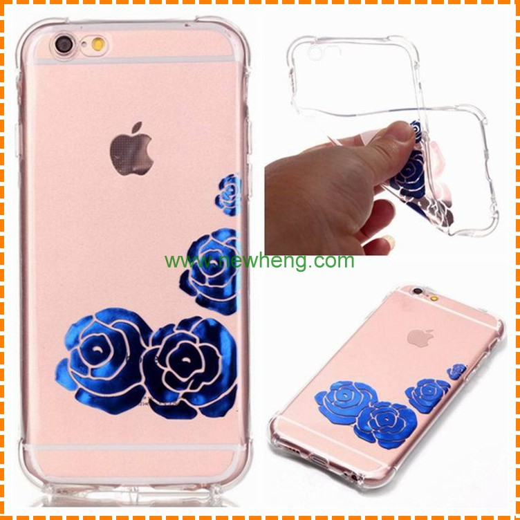 Gold printed tpu gel case skin cover for iPhone 7 iPhone 7 plus