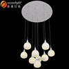 white glass pendant lighting new design chandelier OM8801-9