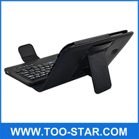 "7"" Bluetooth Keyboard Case for Tab 3 Andriod Tablet Leather Case with Keyboard for Samsung Tab3 7"""
