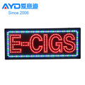 USA hot sale acrylic indoor led e-cigs shop signage board