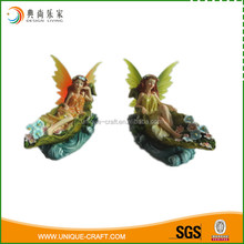 Handmade table decor fairy figurines with glitter in solar light