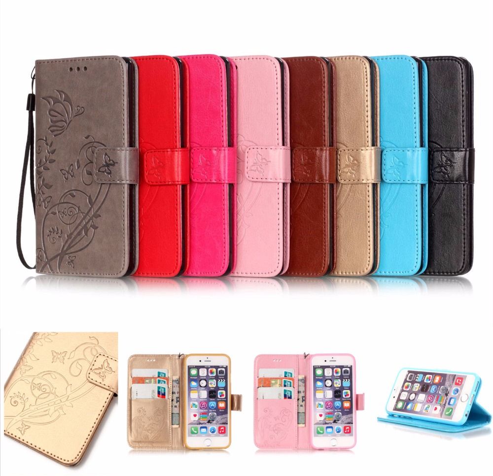 Luxury Magnetic Flip Wallet Leather Stand Case Cover For iPhone 5 se 6 6s <strong>Plus</strong> 7