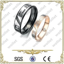 hot selling 2015 8mm fashion couples magnetic titanium ring