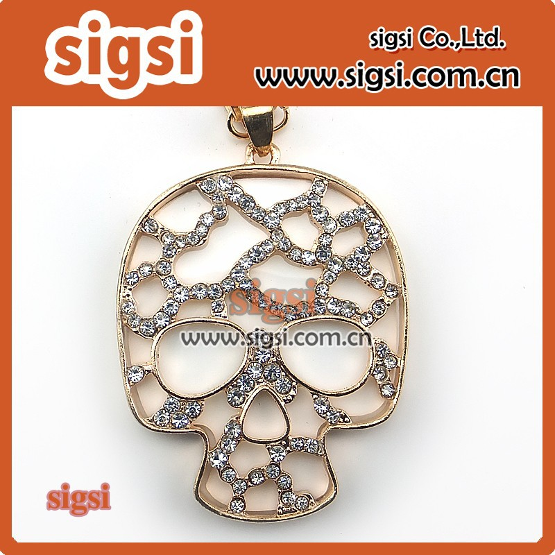 2017 big deal Fashion Sugar Skull Jewelry Rhinestone Pendant
