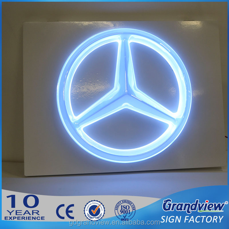 Advertising car outdoor illuminated sign