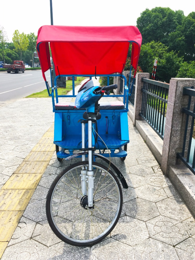 Open body electric passenger auto pedal rickshaw