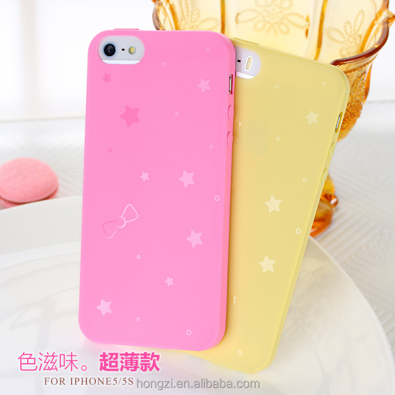Simple Solid Candy Color TPU Soft Rubber Cute Skin Cover Phone Case for Apple iphone 6 7 Phone Cover Case Accessories