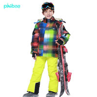 Phibee children's clothing set kids snow jacket and pants 2pc sets manufacturer sale