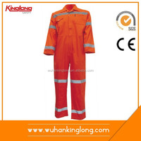 reflective bright colored polyester overalls workwear coverall for all season