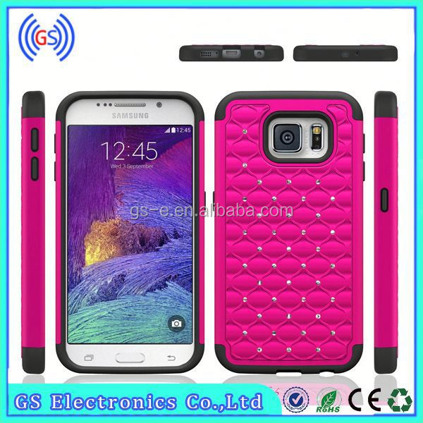 3 IN 1 Bling Diamond Crystal Hybrid silicone Gel + PC hard cell phone covers for Samsung Galaxy 9100