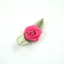 Polyester mini ribbon roses for garment