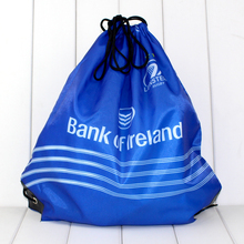promotional customized printed eco-friendly polyester drawstring gym bag for men
