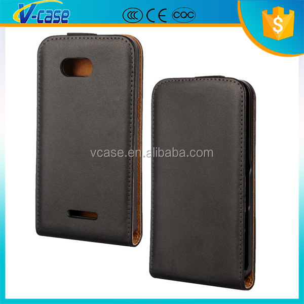 Up and Down Flip Pattern Genuine Leather case flip cover for sony xperia m C1904 C1905