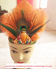 Wholesale Feather Headbands for Girls Ostrich Feather Headdress Fancy Feather Flapper Headbands