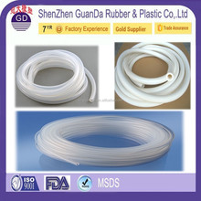 Extruded CLEAR high temperature flexible thin wall silicone rubber tubing