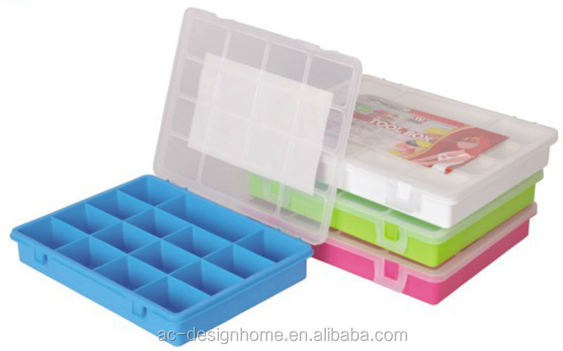 FUCHSIA, TURQUOISE, LIME GREEN, ORANGE RECTANGULAR PP PLASTIC SCREW CARRY CASE