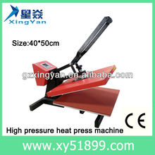 Manual High ,Manual High voltage heat press Machine,CE approver sublimation heat press machine sublimation for t-shirt
