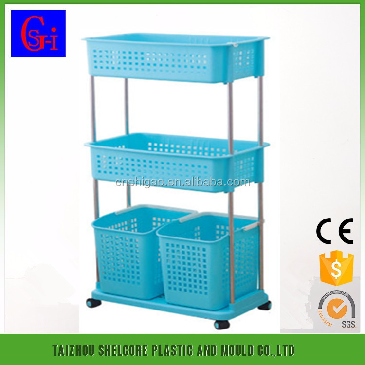 bathroom plastic storage box/plastic multifunctional shelves