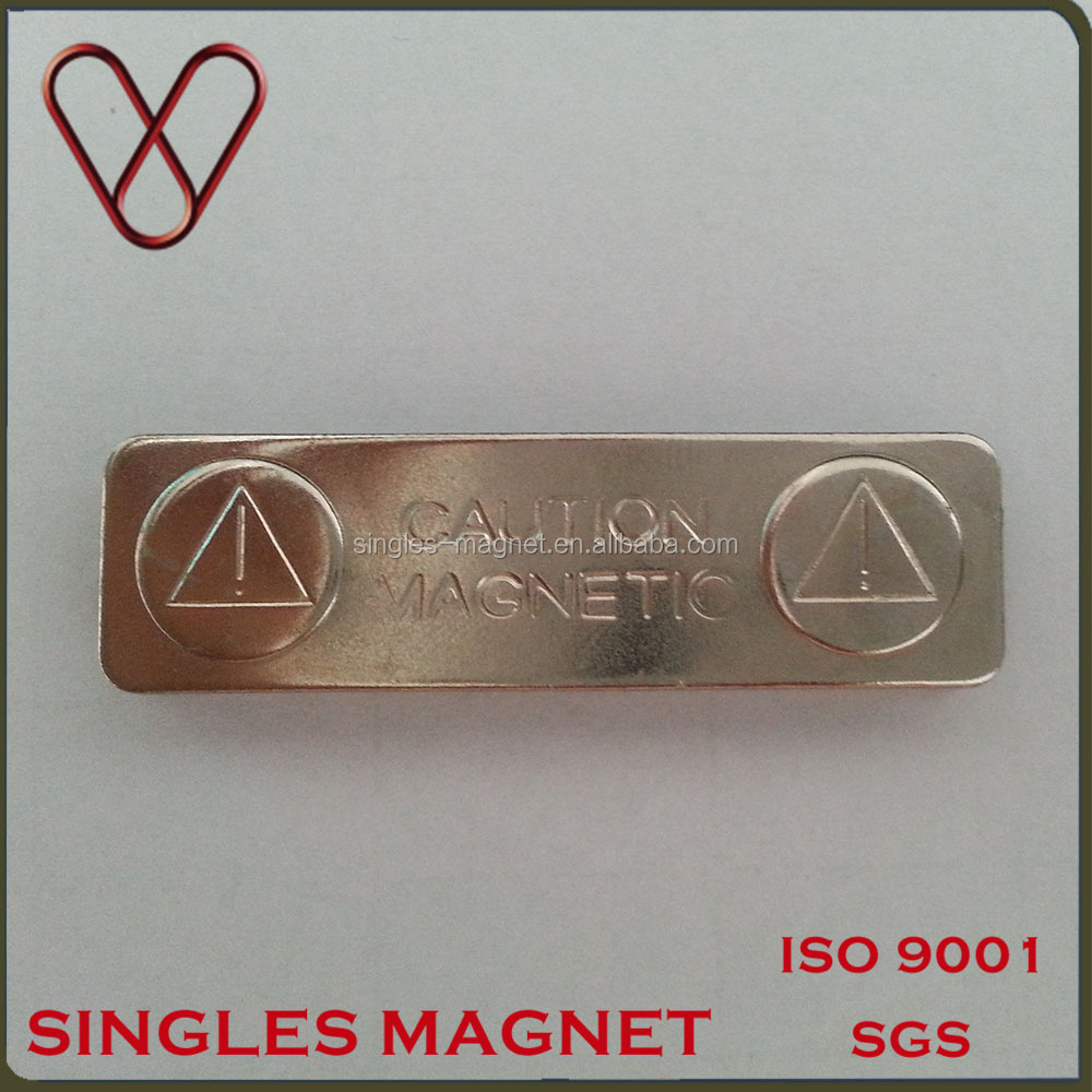 Singles magnet factory high quality magnetic name badge