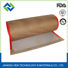 Can be used in food industry teflon PTFE coated open mesh conveyor belt