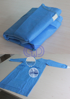 disposable SMMS surgical gown well-folded