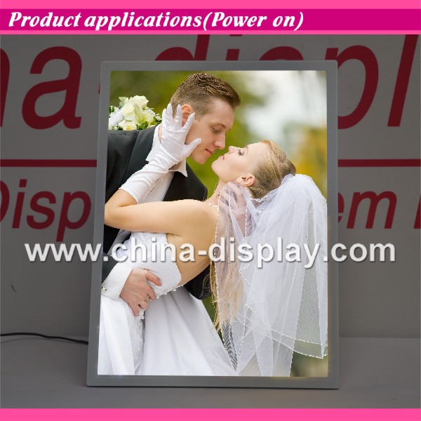 Elegant LED Photo Frame Magnetic Picture Frame for Gift Present
