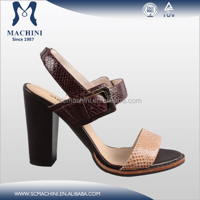 Fashion italian brand name handmade high-heeled sandals leather shoes from turkey