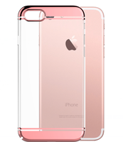 2016 trend products new arrivel slim 0.8mm crystal PC case for iphone 7,electroplating PC case for iphone 7