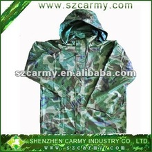 100%nylon water-proof military camouflage printing rainsuit