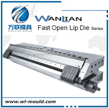 WSPC Series Mono-layer Vertical Plastic Sheet Extrusion fast open lip die